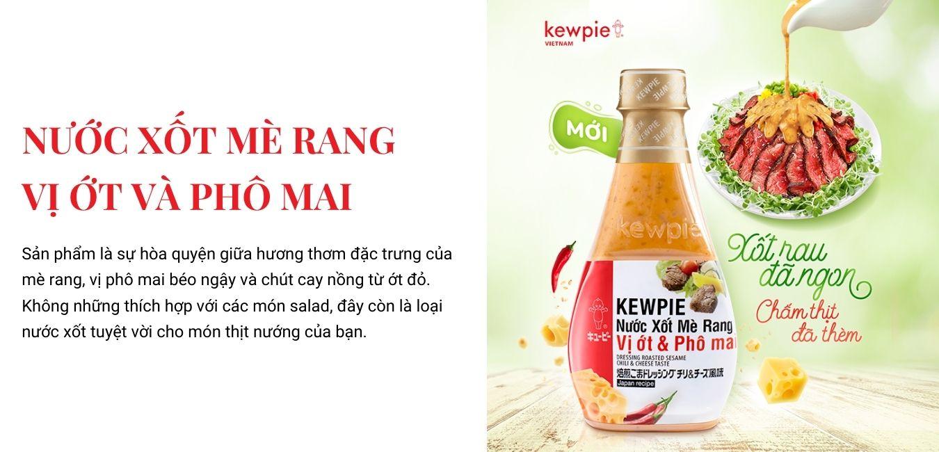 Kewpie Nước xốt mè rang Ớt Phô Mai